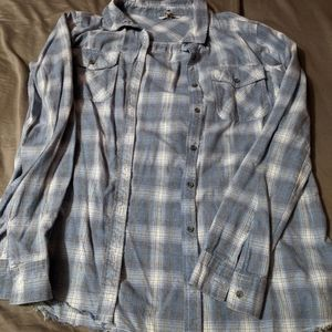 BKE plaid fitted shirt